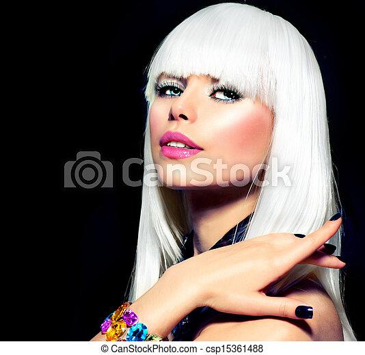 Un retrato modelo de moda - csp15361488