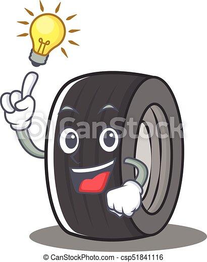 Tengo una idea de neumático estilo dibujo animado - csp51841116