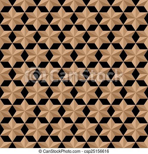 estilo, padrão, seamless, stylized, estrelas, árabe - csp25156616