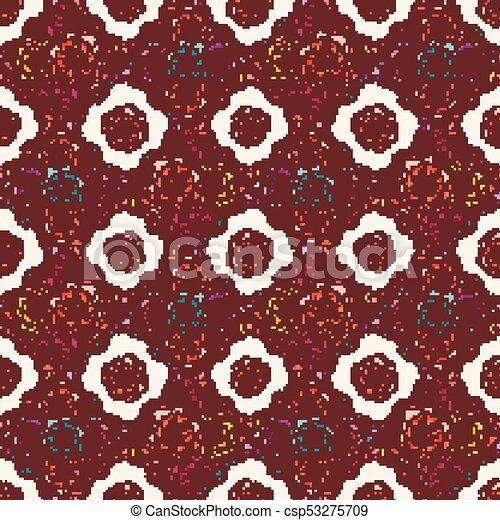 estilo, papel parede, arte, nouveau., flover - csp53275709
