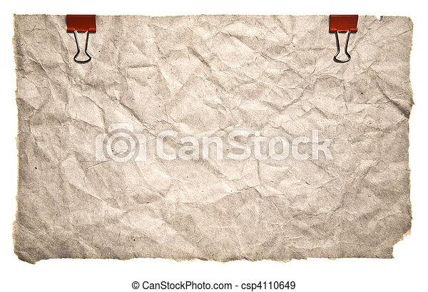 estilo, papel, retro - csp4110649