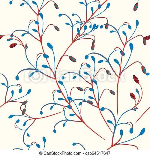 Un vector rústico floral en estilo abstracto - csp64517647