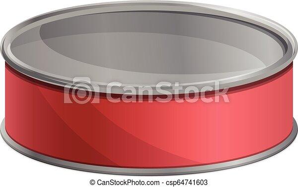 Atún con latas de atún, estilo de dibujos animados - csp64741603