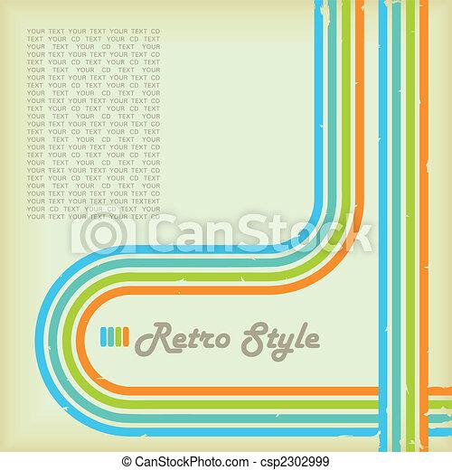 estilo, retro - csp2302999