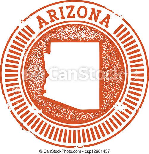 estilo, selo, estado arizona, vindima - csp12981457