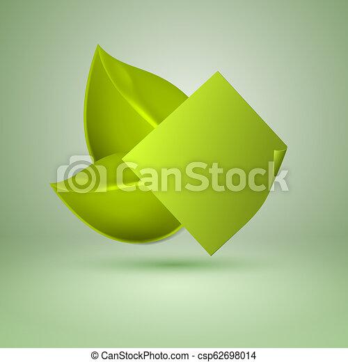 Dos hojas de estilo amarillo. Etiqueta con lugar para el texto. - csp62698014
