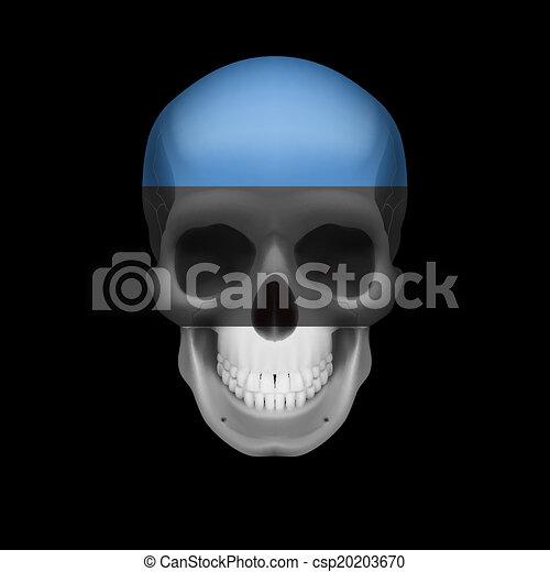 Estonian flag skull - csp20203670