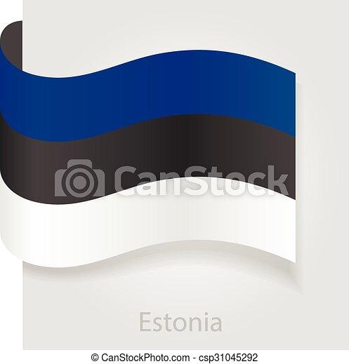 Estonian flag, vector illustration - csp31045292