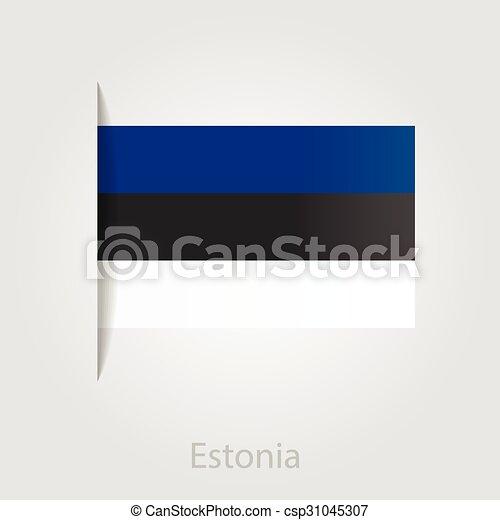 Estonian flag, vector illustration - csp31045307