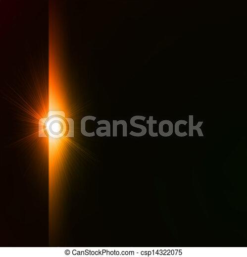 estouro estrela, amarela, experiência., vetorial, pretas - csp14322075