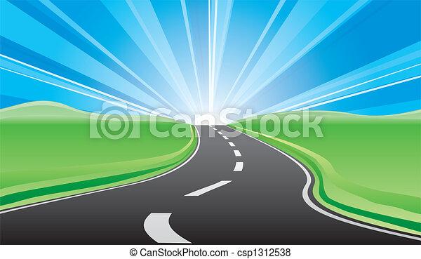 estrada, amanhecer - csp1312538