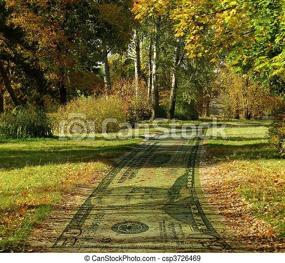 estrada, dinheiro - csp3726469