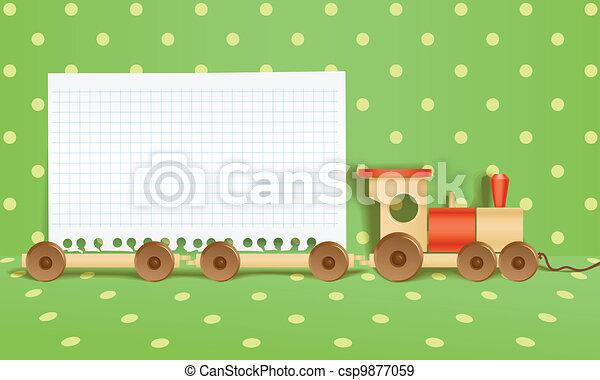 estrada ferro, brinquedo, fundo - csp9877059