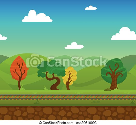 estrada ferro, paisagem - csp30610093