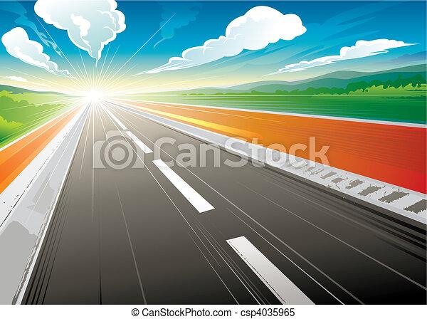estrada, manhã - csp4035965