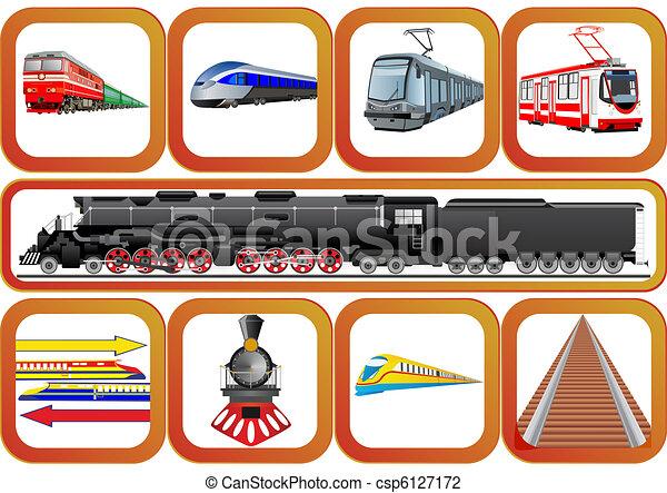 estradas ferro, transporte - csp6127172
