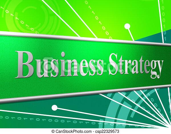 La estrategia de negocios indica soluciones de planificación e innovación - csp22329573