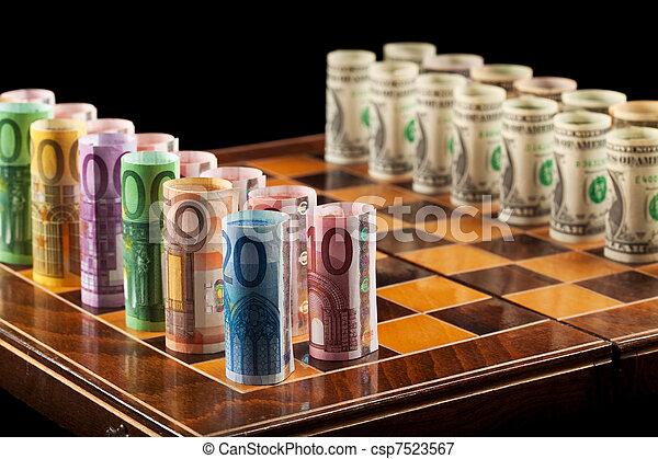 El concepto de estrategias de dinero - csp7523567