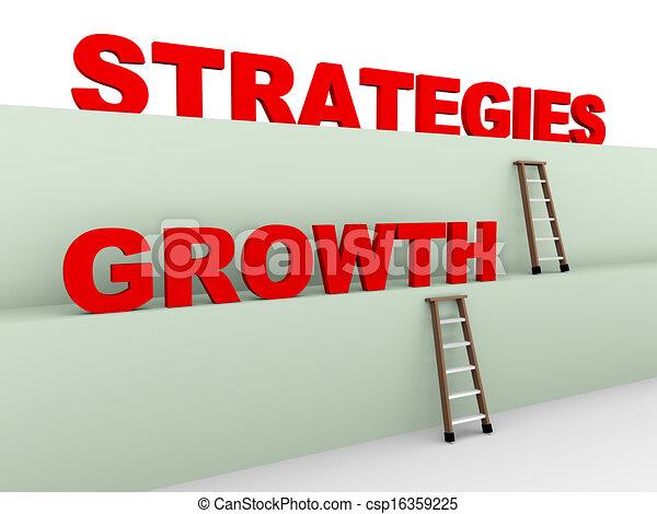 Estrategias de crecimiento 3D - csp16359225