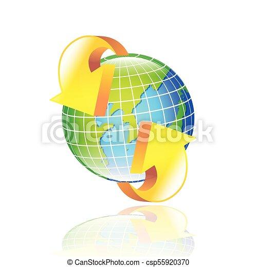 estratto terra, frecce, globo - csp55920370