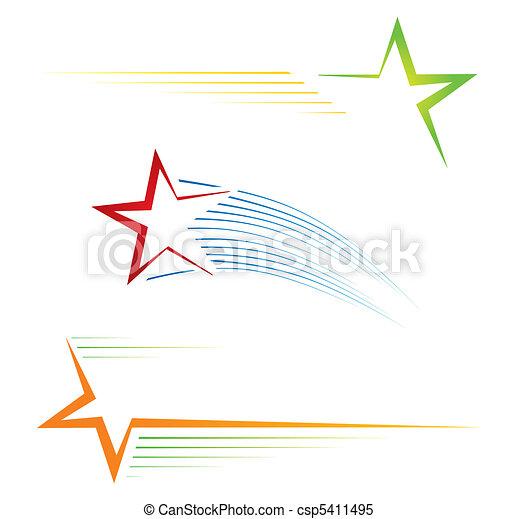 estrela, ícones - csp5411495