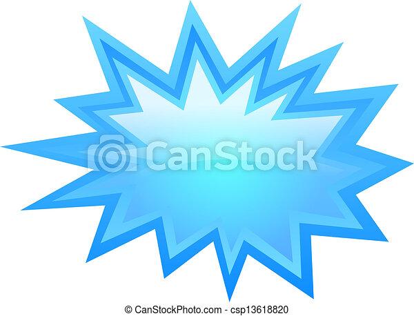 estrela azul, ícone - csp13618820