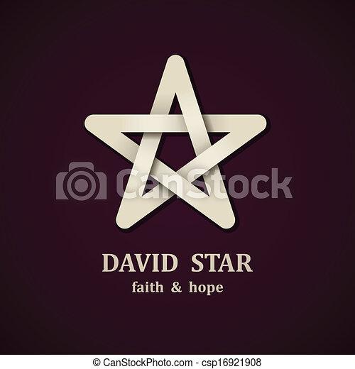 estrela, símbolo, david, vetorial, desenho, modelo - csp16921908