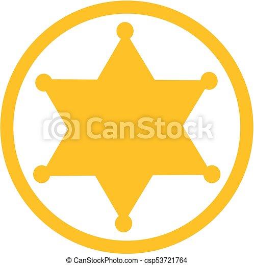 estrela, xerife, ícone - csp53721764