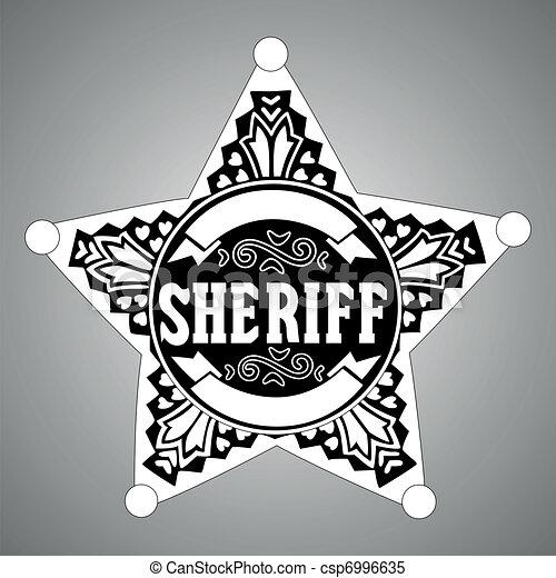 estrela, xerife - csp6996635