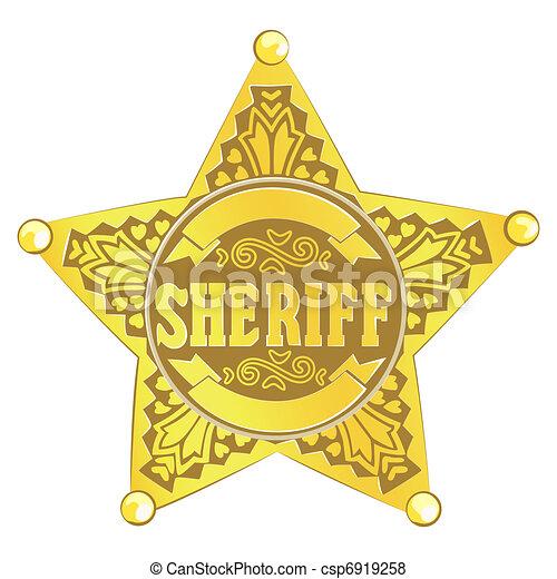 estrela, xerife - csp6919258