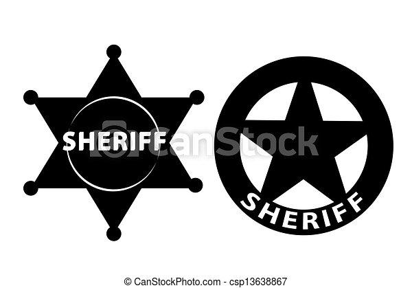 Sheriff Star - csp13638867