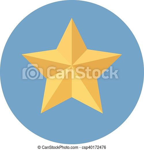 icono de estrella amarilla - csp40172476