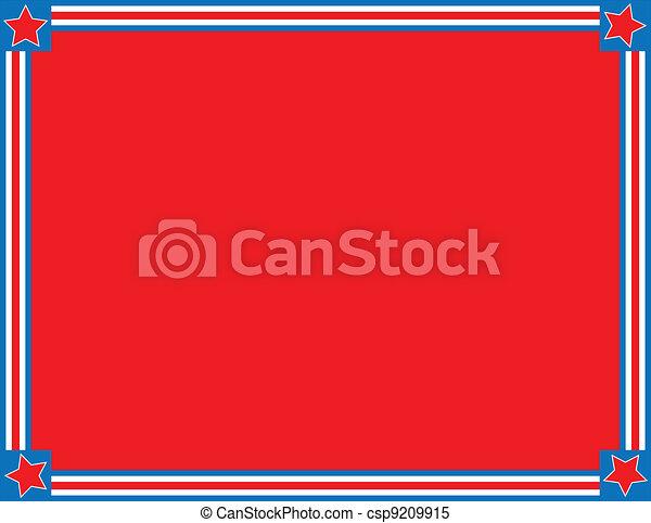 Vector EPS8 rojo estrella azul - csp9209915