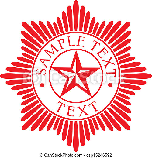 Orden estelar ( placa policial) - csp15246592