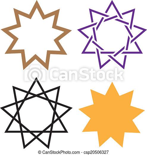 Estrella de Bahai - csp20506327