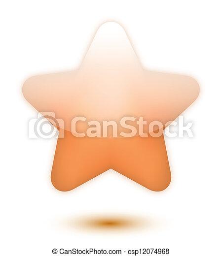Estrella de bronce 3D - csp12074968