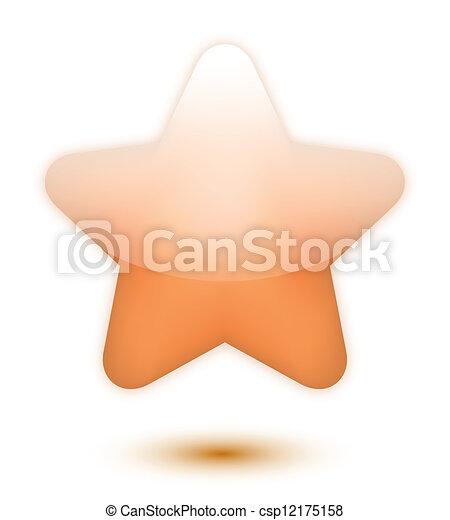 Estrella de bronce 3D - csp12175158