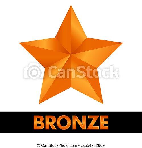 icono de estrellas de bronce - csp54732669