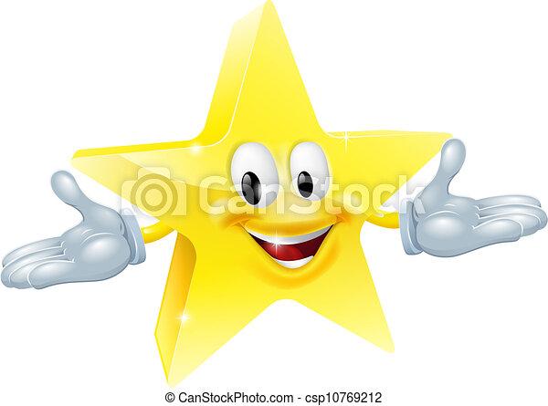 Personaje de hombre estrella - csp10769212