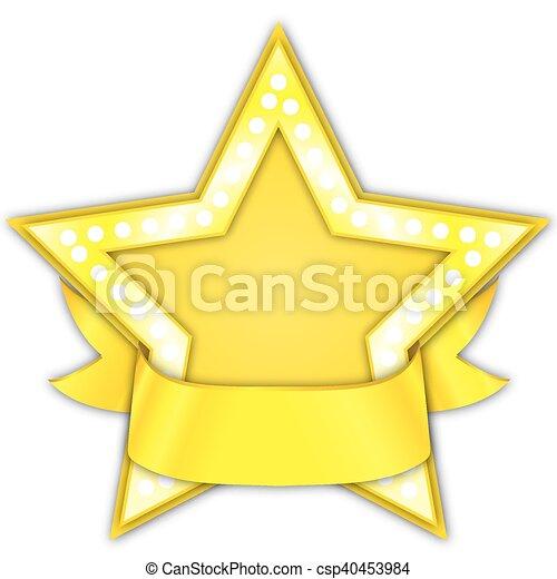 Premio a la estrella dorada con cinta - csp40453984