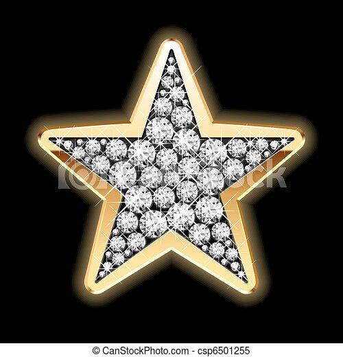 Estrella en diamantes - csp6501255