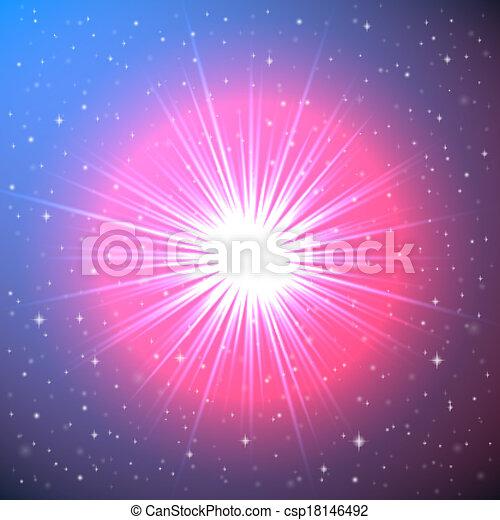 La explosión de una estrella en el espacio - csp18146492