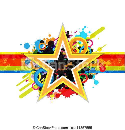 Fantástico diseño de estrellas - csp11857555
