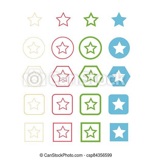 estrella, icono - csp84356599