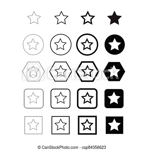 estrella, icono - csp84356623