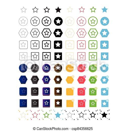 estrella, icono - csp84356625