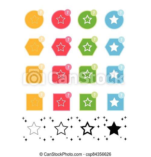 estrella, icono - csp84356626