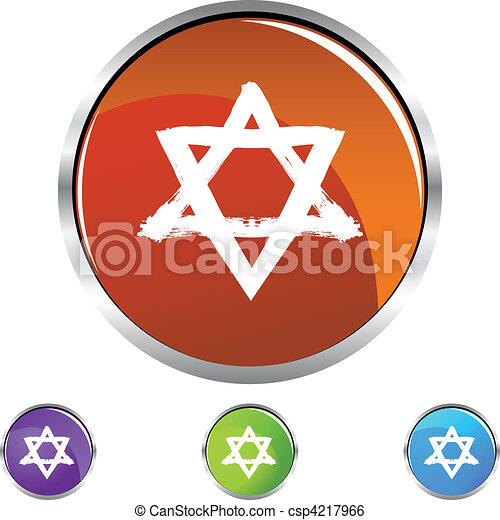 Estrella judía - csp4217966