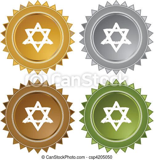 Estrella judía - csp4205050