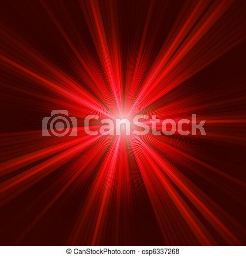 Estrella roja en fondo oscuro. EPS 8 - csp6337268